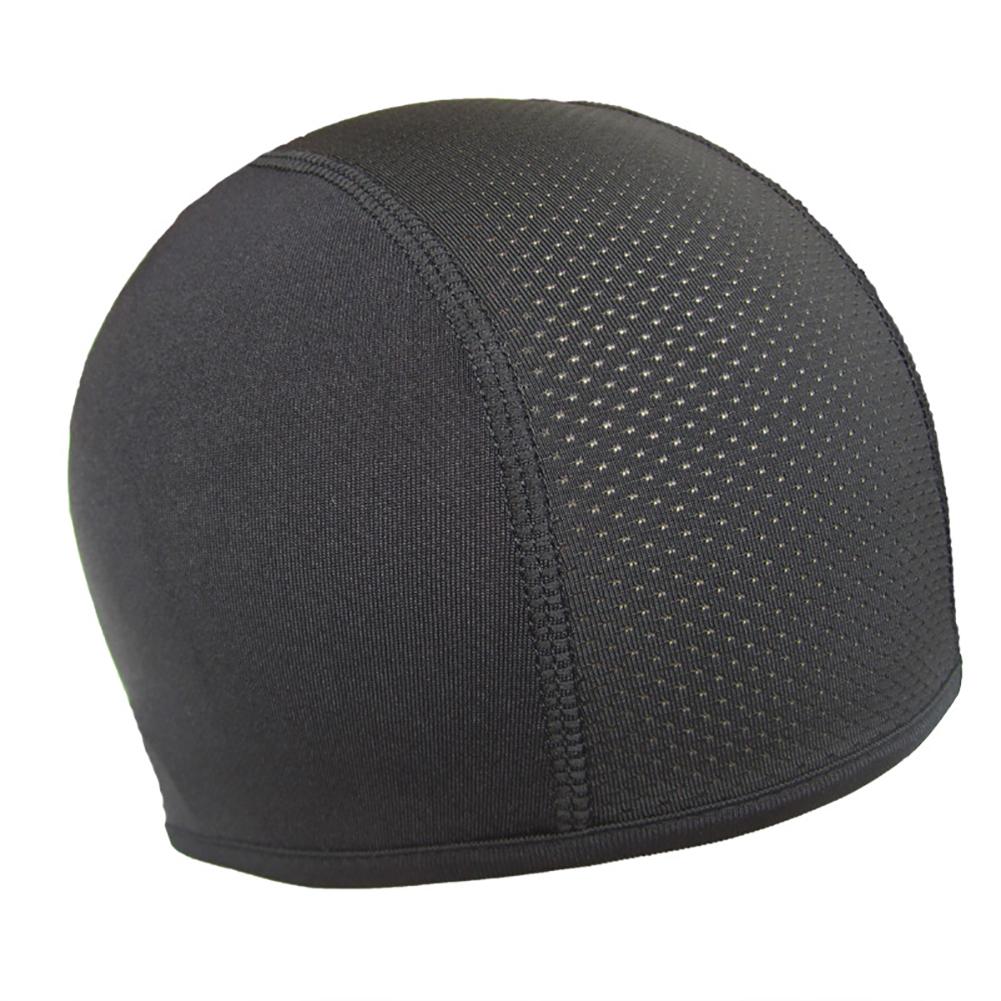 Men Women Cycling Cap Quick-drying Anti-UV Helmet Inside Cap for Sports  black_One size
