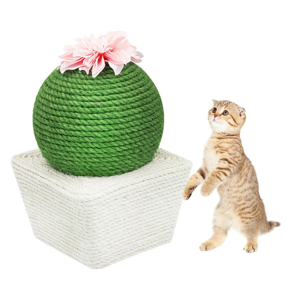 Sisal Knitting Ball Cat Toy Tumbler Catching Cat Mint Ball for Pet   10.5cm in diameter