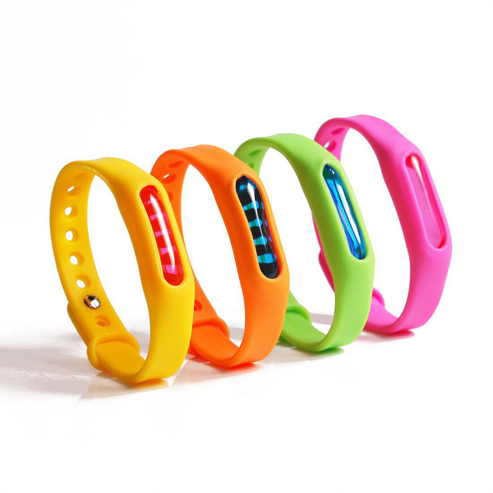 Silicone Mosquito Killer Wristband For Kids Adult Capsule Pest Insect Bugs Trap Mosquito Repellent Bracelet Repeller random