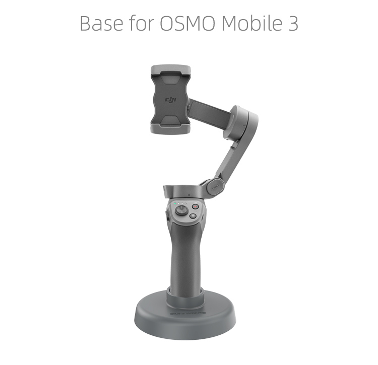 For DJI Osmo Mobile 3 Table Base Handheld Gimbal Base Stand Mount Accessories gray
