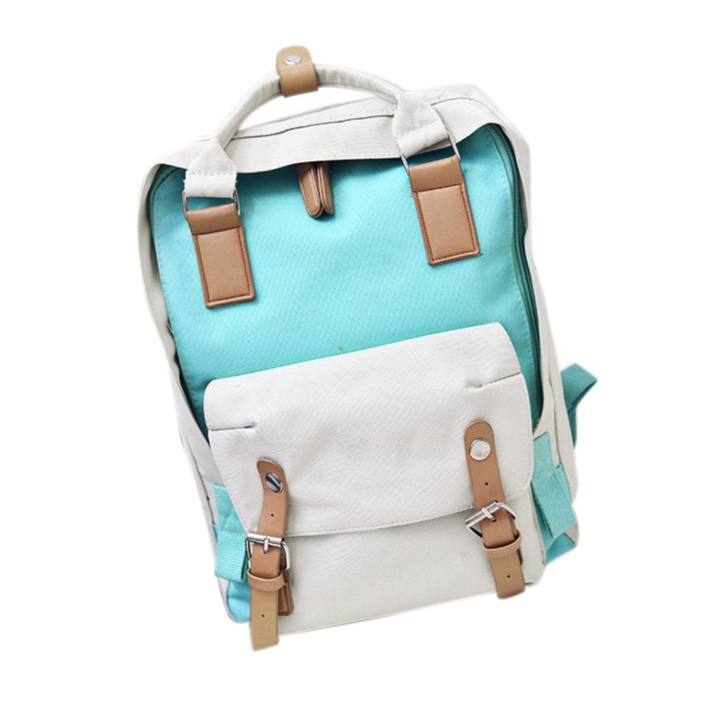 Color Matching Backpack Leisure Traveling Shoulder Bag for Teens Students