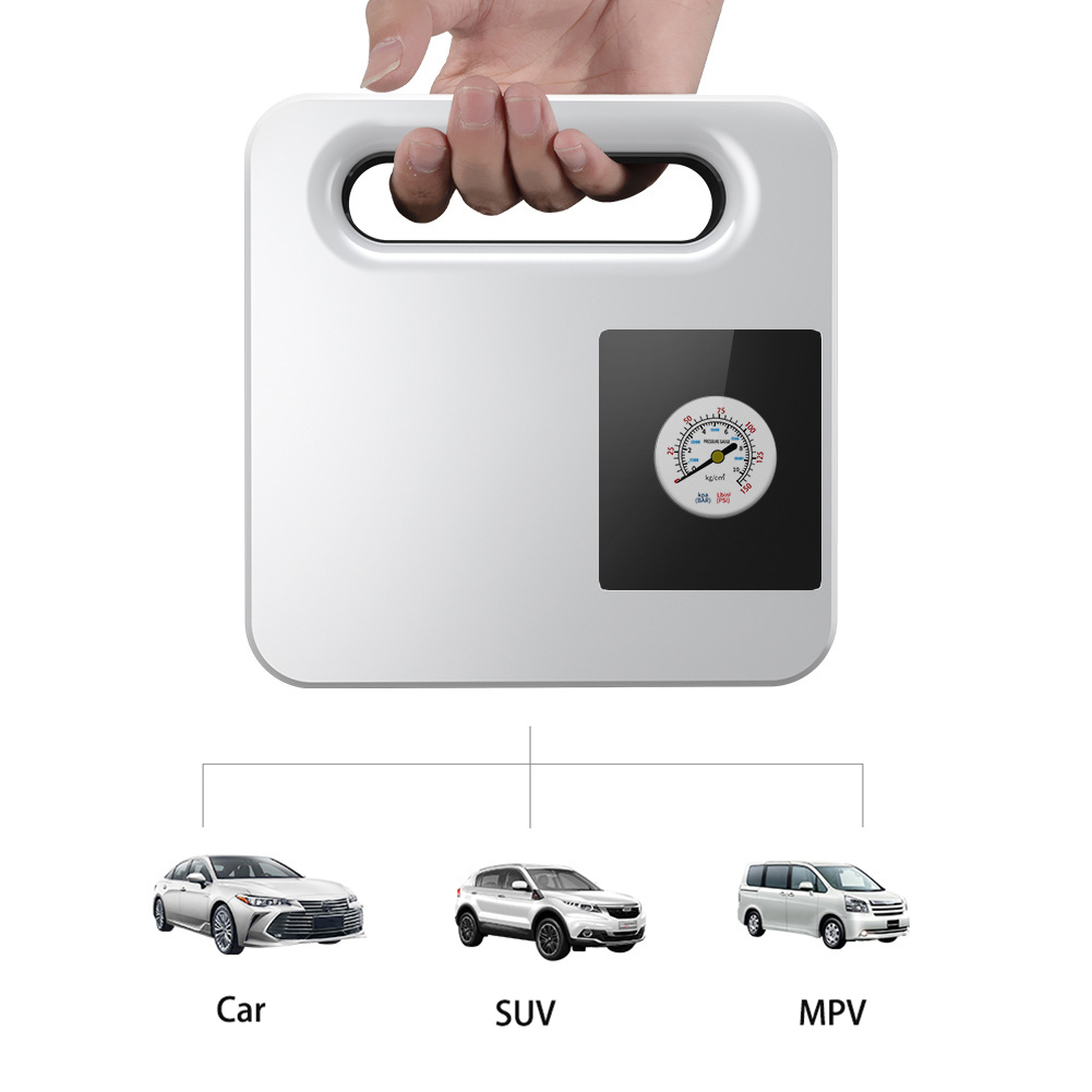 Portable Car Air Pump Automatic Charging Type Car Air Pump Digital Tire Air Pump With Light Pointer type