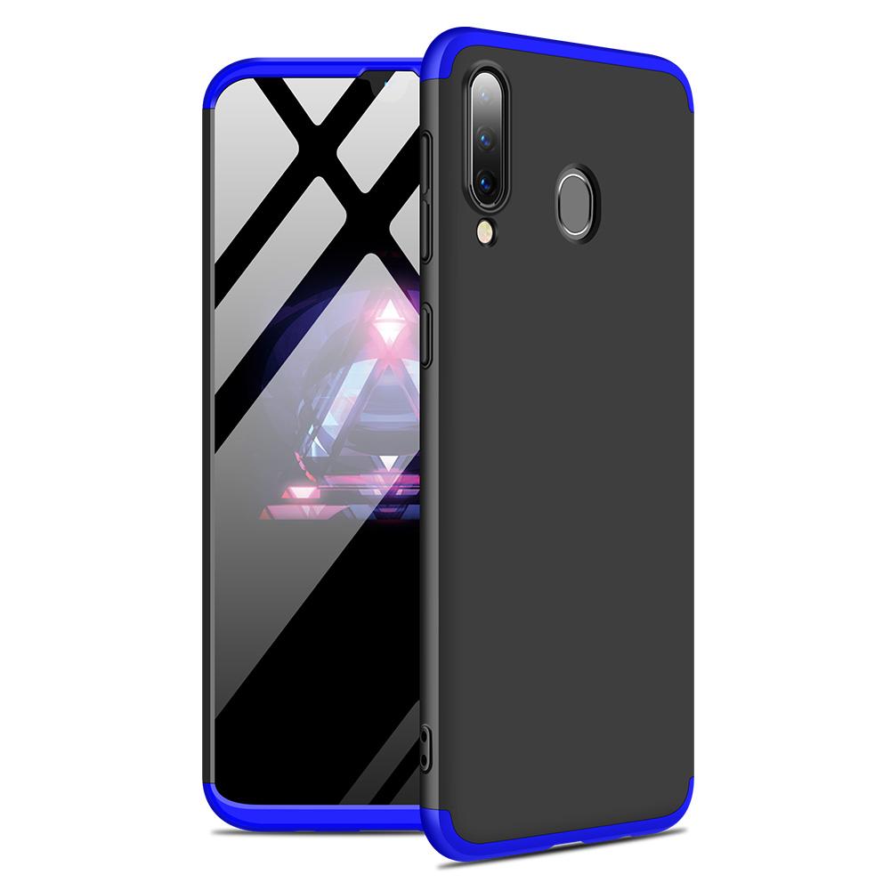 For Samsung M30 Ultra Slim PC Back Cover Non-slip Shockproof 360 Degree Full Protective Case Blue black blue