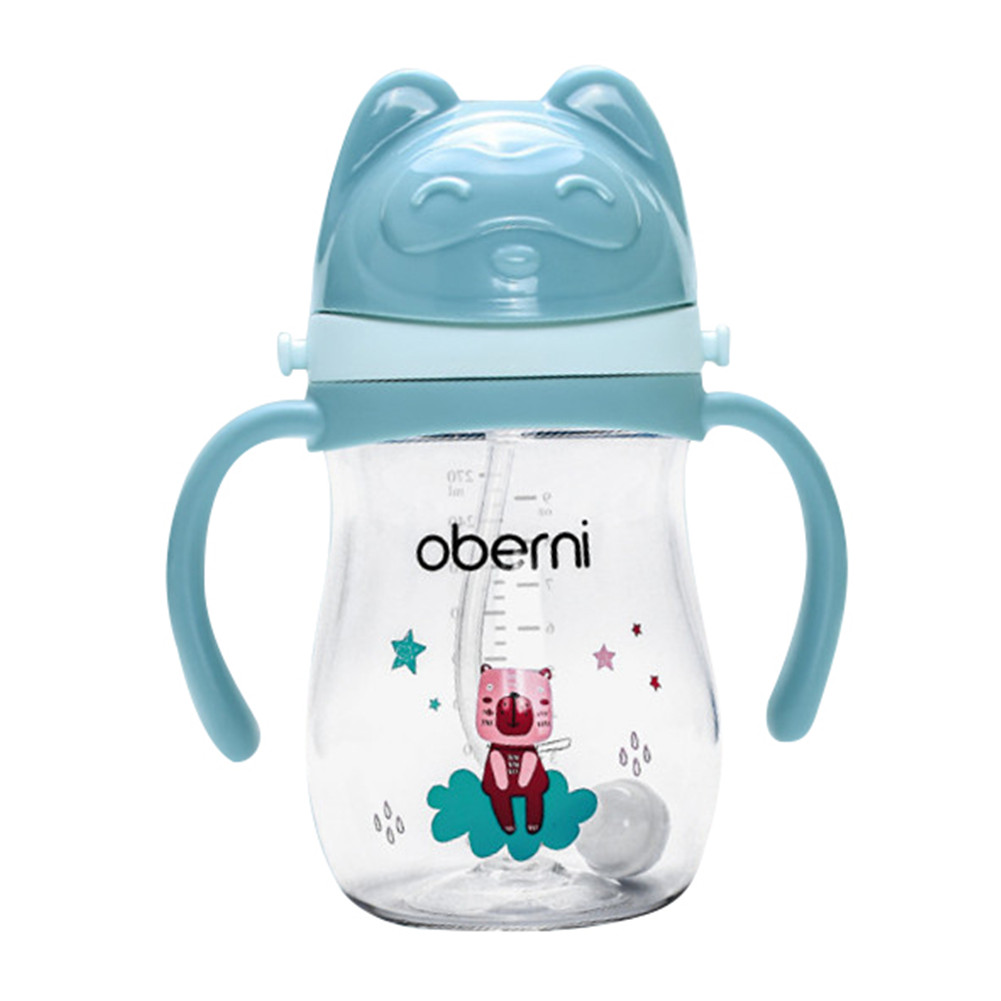 Oberni Baby Drink Cup with Handle and Strap Sippy Cup 270ml Large Capacity