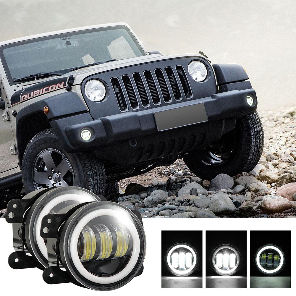 2pcs/set 4 inches 30 watts 6000K for jeep LED Angel Eye Fog Lamp White light