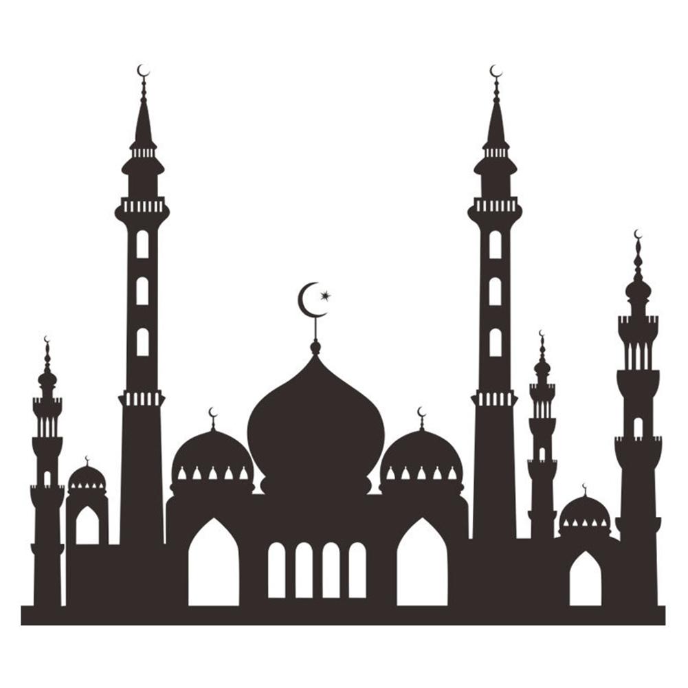Muslim Ramadan Festival Decoration Mosque Pattern Wall Sticker Decal Poster Home Decor 49.6x57cm