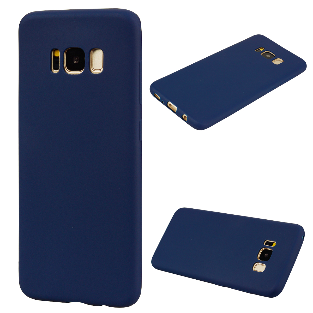 for Samsung S8 plus Lovely Candy Color Matte TPU Anti-scratch Non-slip Protective Cover Back Case Navy
