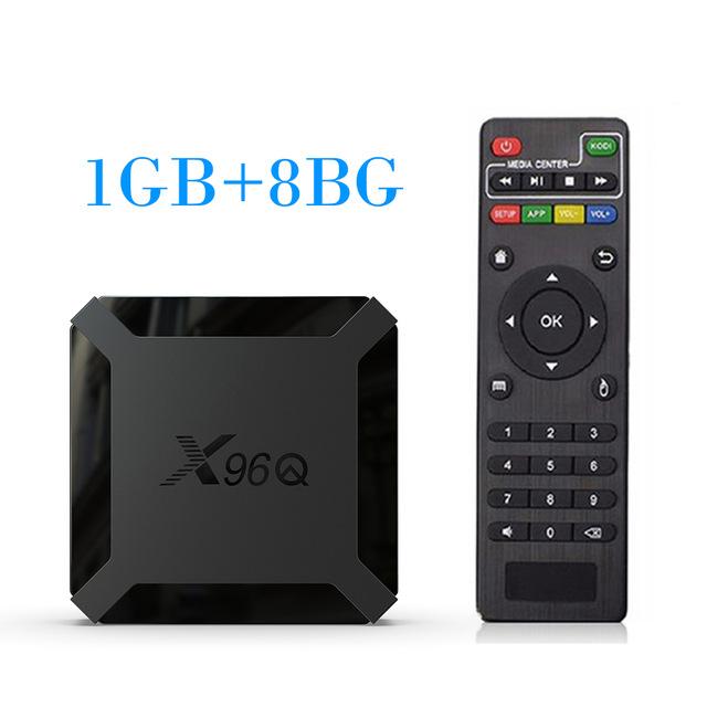 TV BOX Android 10.0 X96Q Allwinner H313 Quad Core 4K Smart Android TV 2.4G Wifi X96 Q Set Top Box European regulations