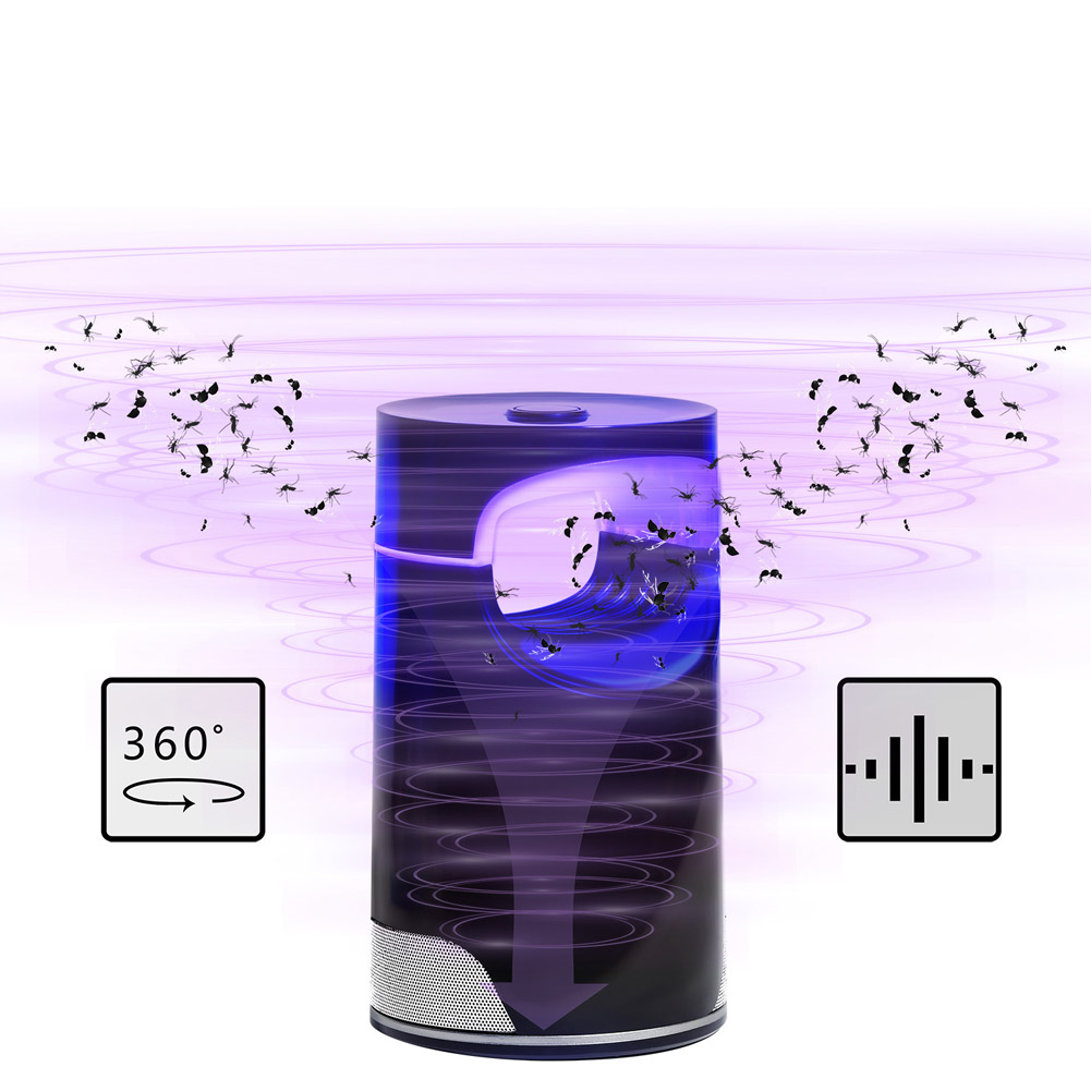 WiFi Smart Mosquito Killer Light USB Photocatalytic Anti Mosquito Light for Home Bedroom Pregnant Woman 121*121*218MM