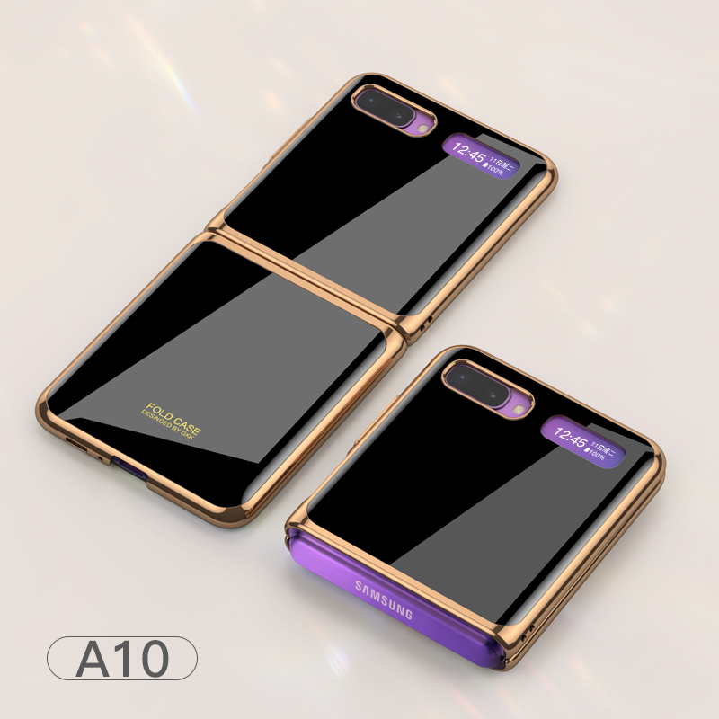 For Samsung Galaxy Z flip Foldable Cellphone Shell Electroplated Painted Folding Phone Case A10