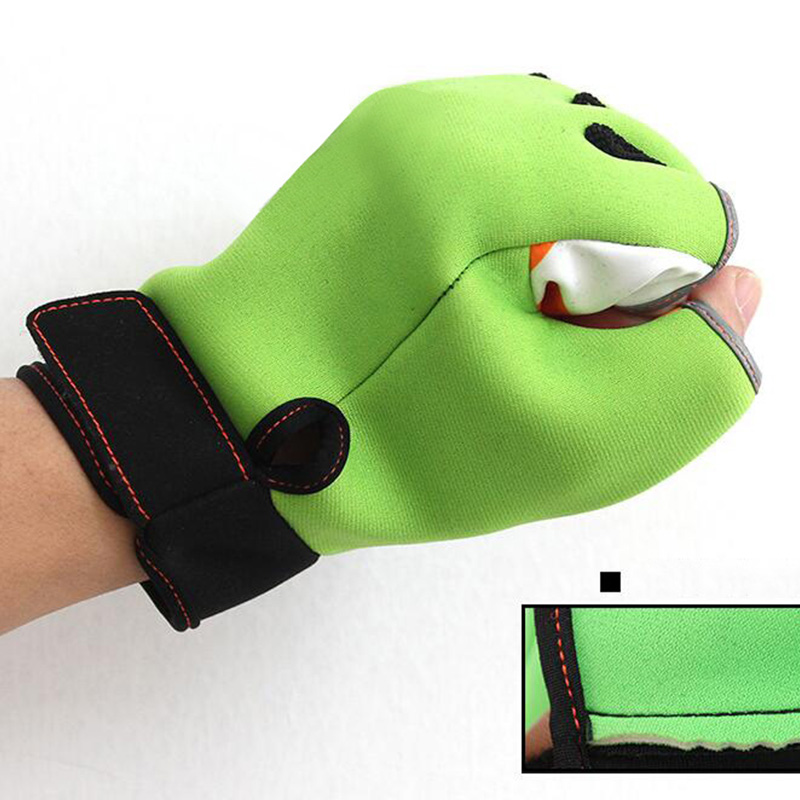Soft Plastic Fishing Gloves Warm Thicken Anti-skid Waterproof Men Gloves with 3 Exposed Fingers