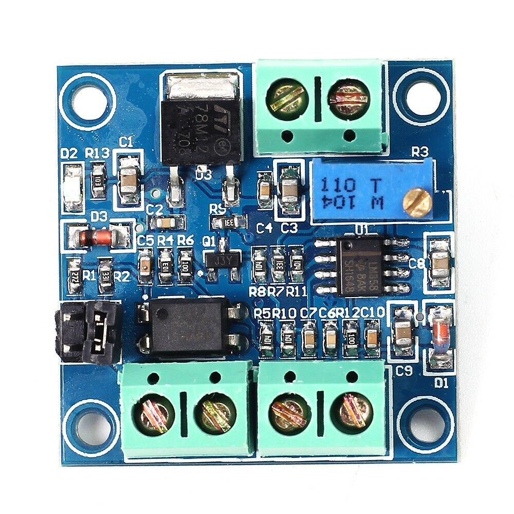 PWM to Voltage Converter Module 0%-100% to 0-10V for Digital to Analog Signal green