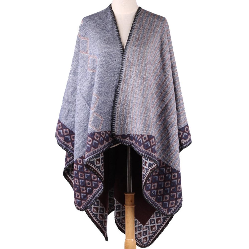 Women Shawl Dual-Use Cashmere-Like Acrylic Scarf Fashionable Shawl