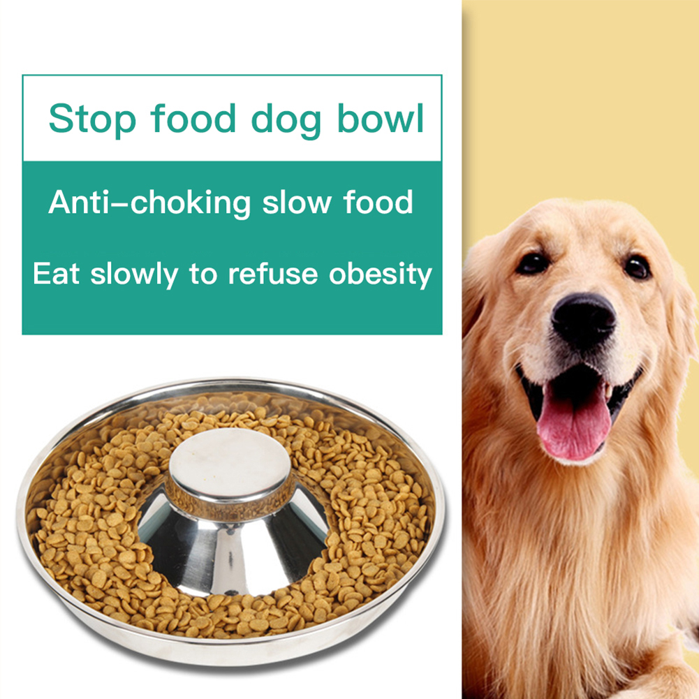 Stainless  Steel Bowl Water Food Feeding Dish For  Dogs  Pets Feeder 34cm