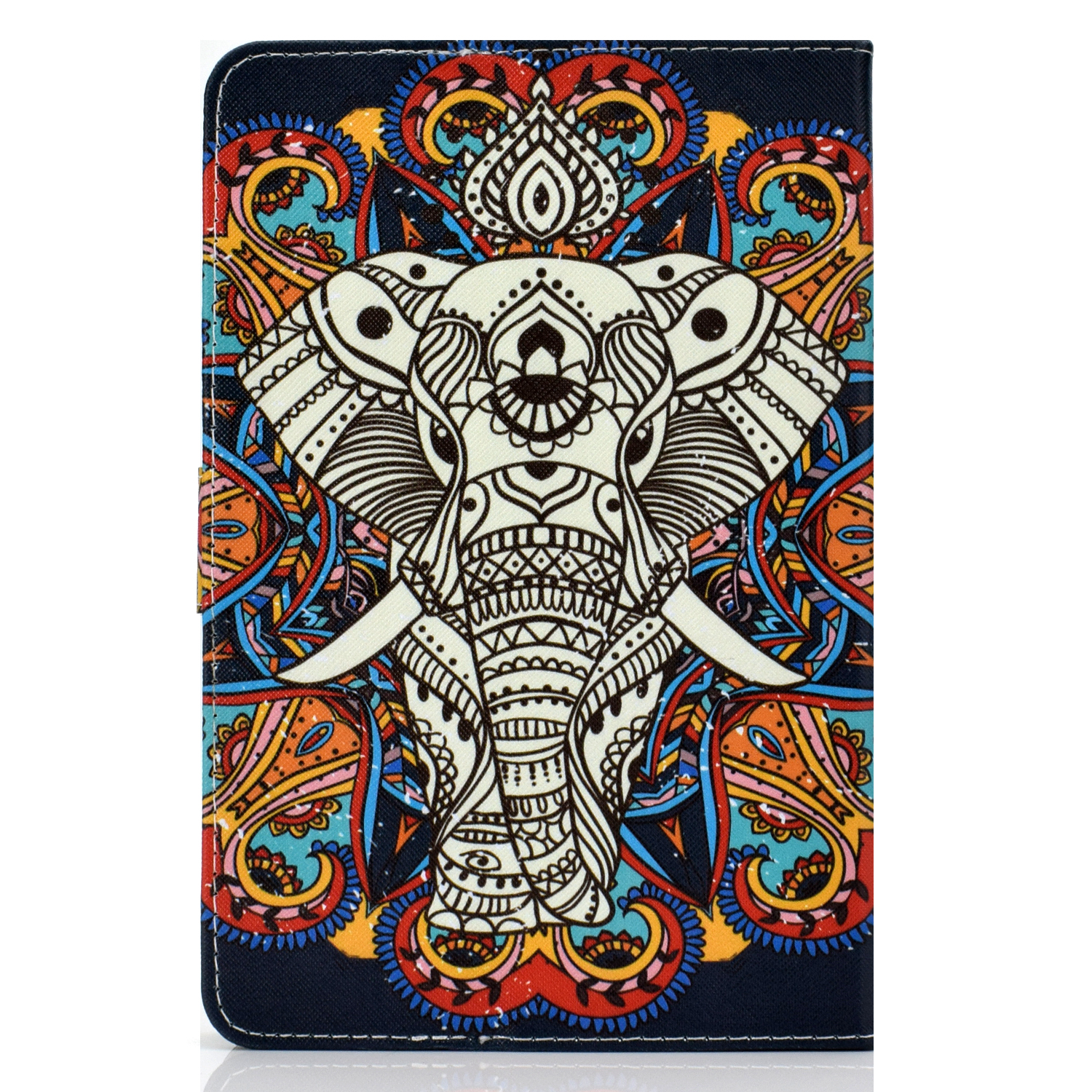 Universal Laptop Protective Cover Colour Painted 8 Inches PU Case with Front Snap single horned horse