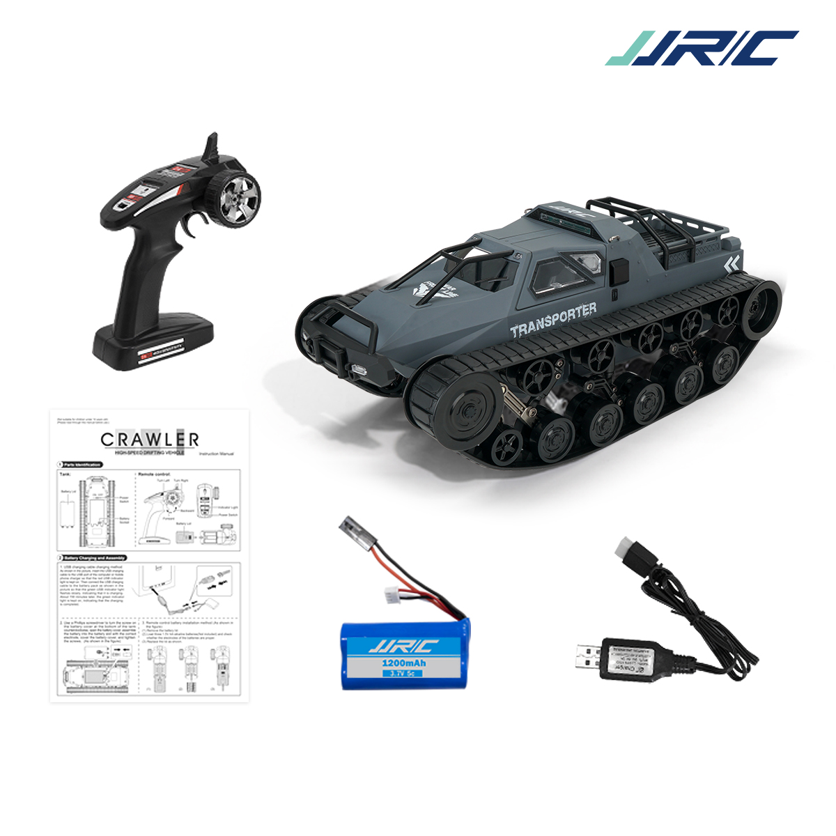SG 1203 1/12 2.4G Drift RC Tank Car High Speed Full Proportional Control Vehicle Models gray