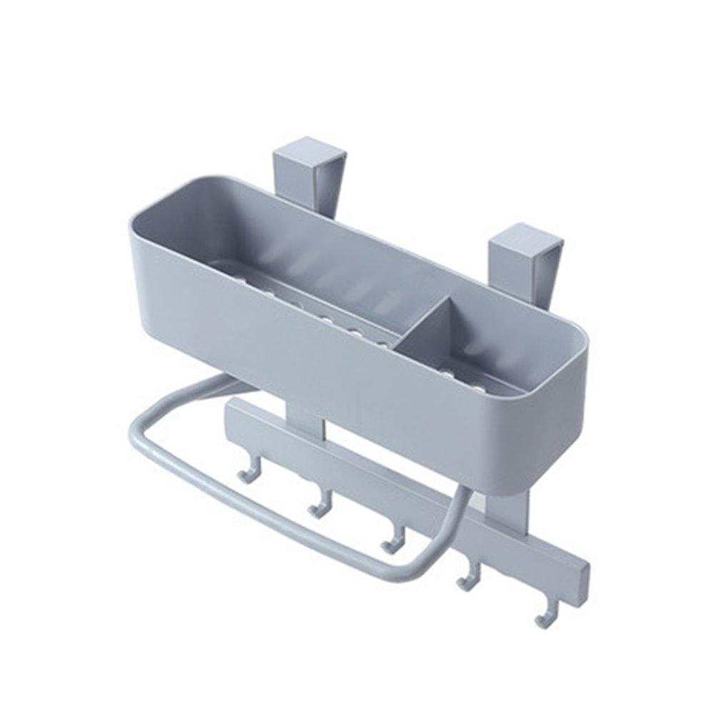 Organizer Storage Rack Bathroom Kitchen Sponge Dry Leachate Storage Rack gray_ 23*7.5*22cm