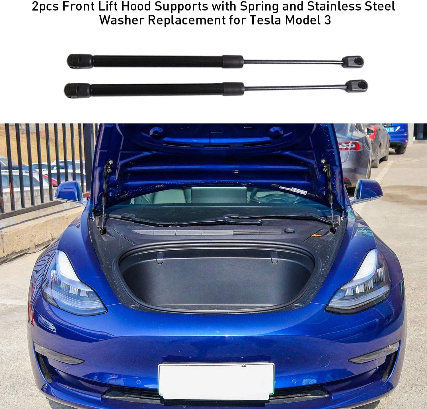 Front Lift Hood Supports for Tesla Model 3