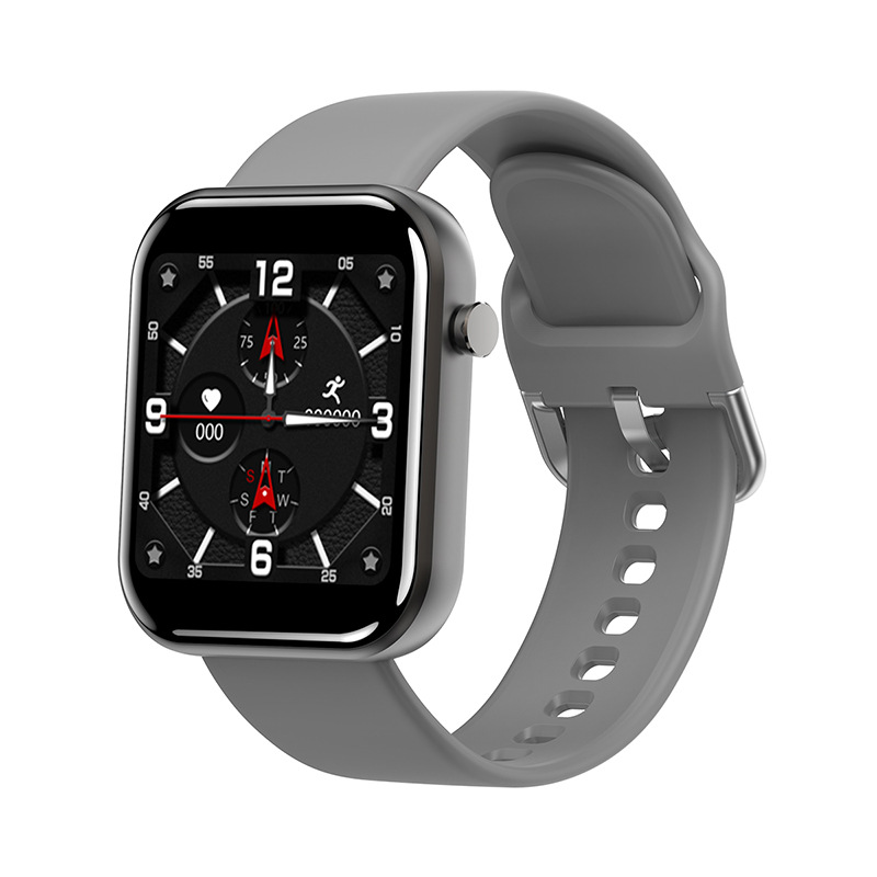 ZL11 Smart Bracelet 1.5 Inch Full Touch Screen Step Counts Heart Rate Long Standby Bluetooth Wristwatch gray