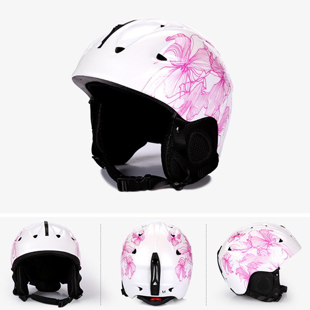 Integrated Molding Ski Helmet Safety Snowboard Helmet Protective Gear Equipment for Adult Children white_M