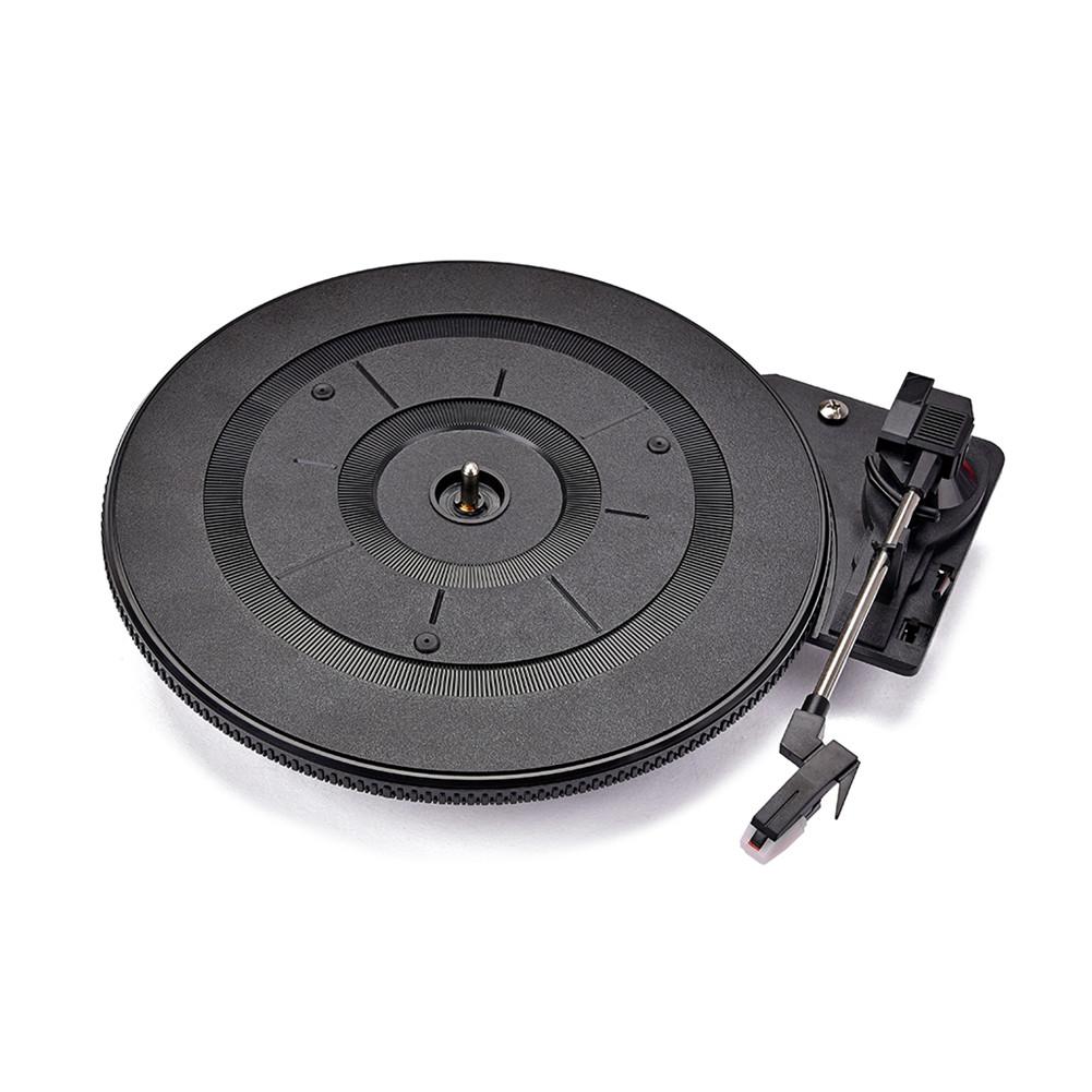 28cm Black Phonograph Turntable 35.5 x 28 x 1 cm for Vintage Vinyl LP Record Player black