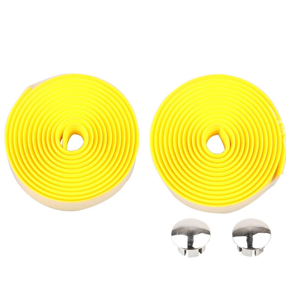Bicycle Handlebar Tape Steering Wheel Cover Road Bike Cycling Handle Non-slip Belt Rubber Tape Bike Accessories yellow