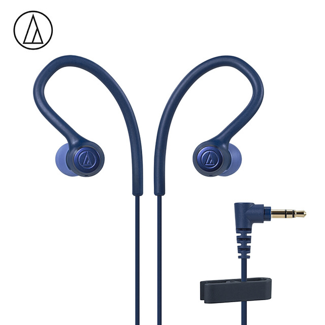 Original Audio Technica ATH-SPORT10 In-ear Wired Earphone Music Headset Sport Earbuds With IPX5 Waterproof For Huawei Xiaomi Blue