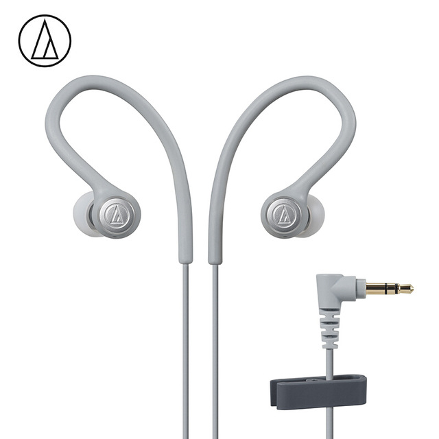 Original Audio-Technica ATH-SPORT10 In-ear Wired Earphone Music Headset Sport Earbuds With IPX5 Waterproof For Huawei Xiaomi White