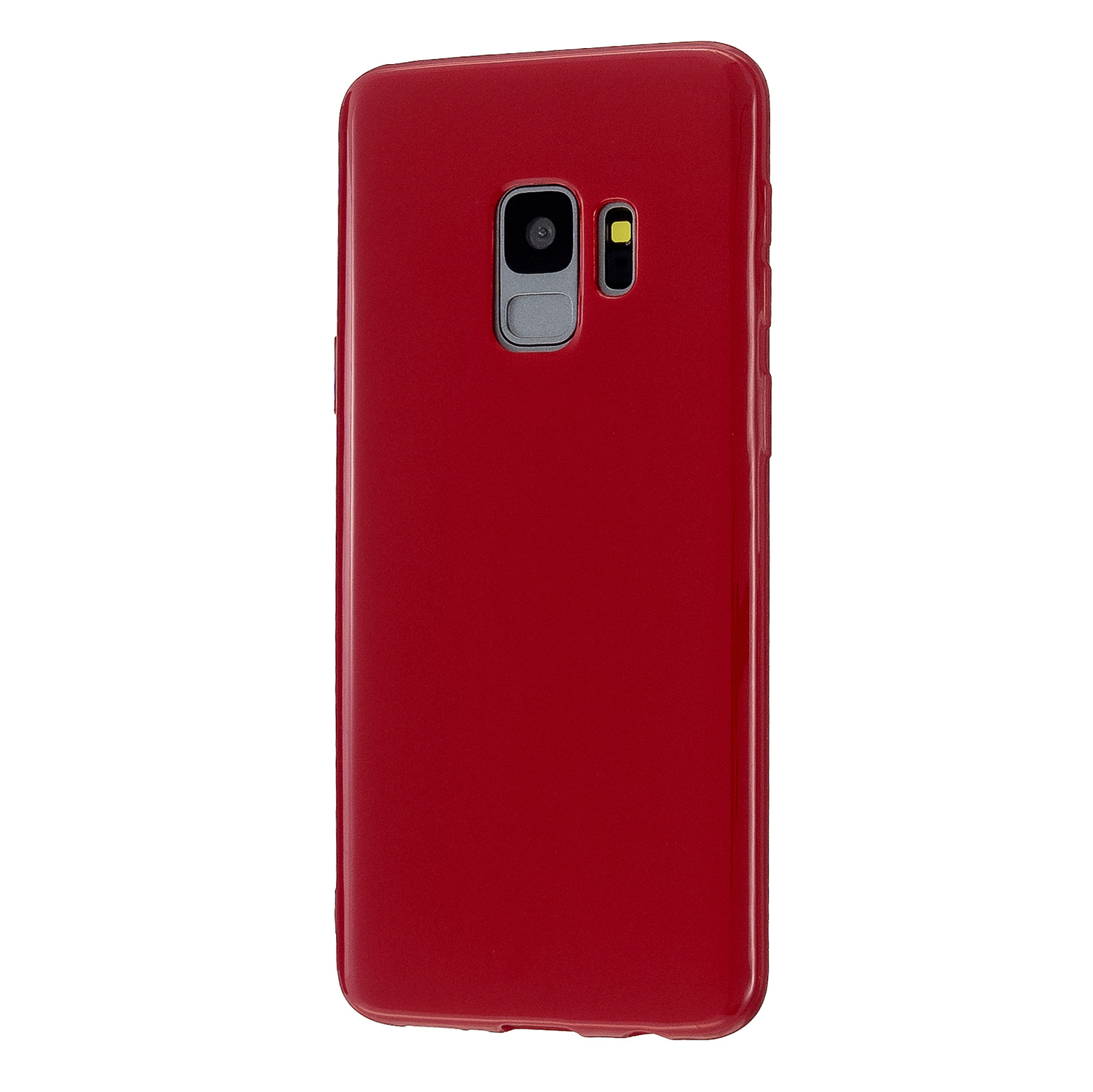 For Samsung S9/S9 Plus Mobile Phone Cover Classic Plain Design Classic Smartphone Case Soft TPU Phone Shell Rose red