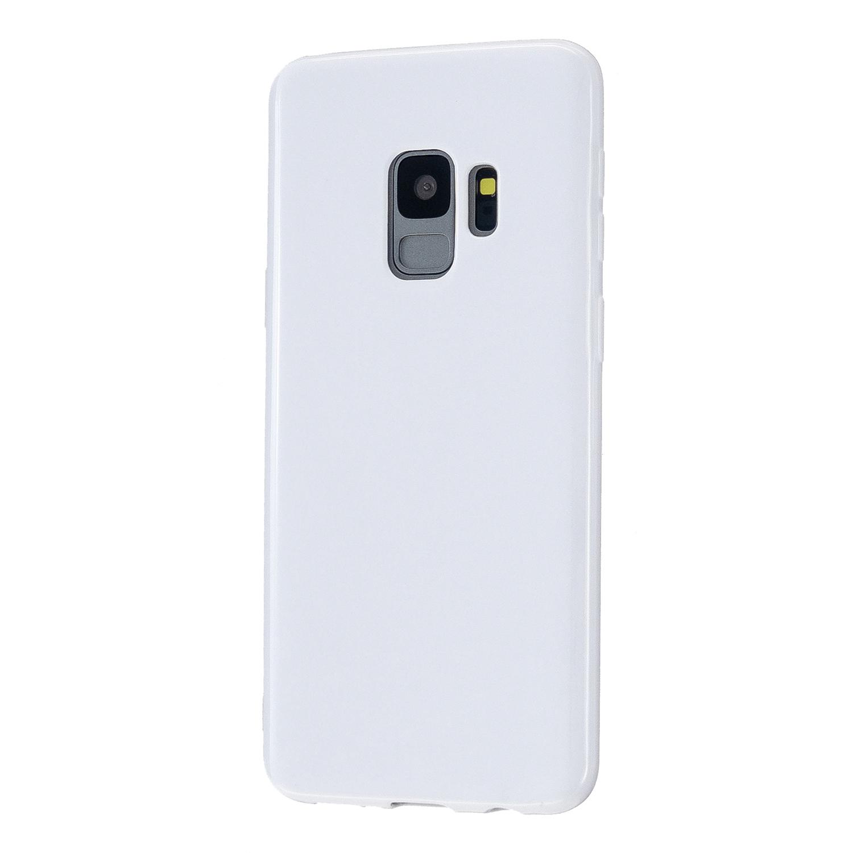 For Samsung S9/S9 Plus Mobile Phone Cover Classic Plain Design Classic Smartphone Case Soft TPU Phone Shell Milk white