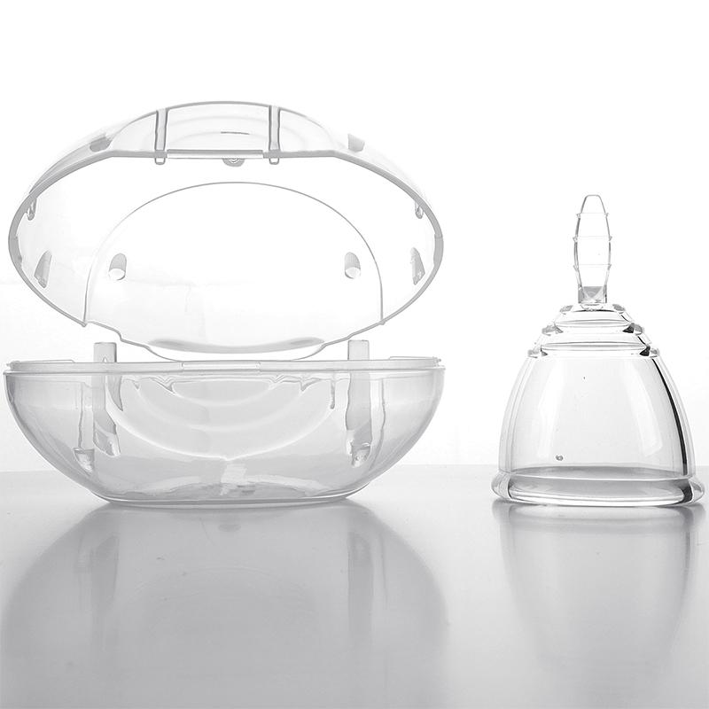 Portable FDA Silicone Female Menstrual Cup Lady Menstrual Period Cup Menstrual Box S