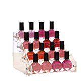 [EU Direct] Acrylic Nail Polish Show Shelf Display Case Nail Salon Storage Case C98