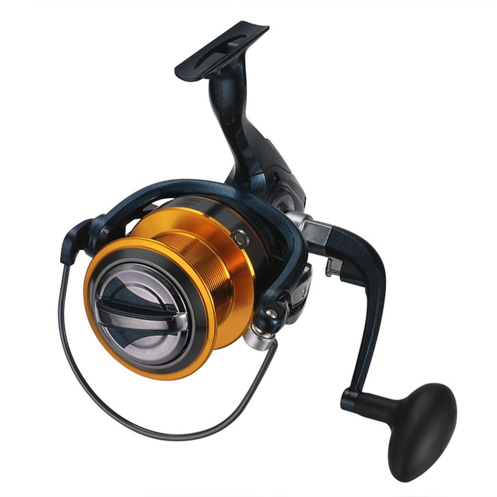 Fishing Wheel Metal Wire Cup Long Shot Sea Pole Foldable Rocker 8000/9000 SL9000 dark blue