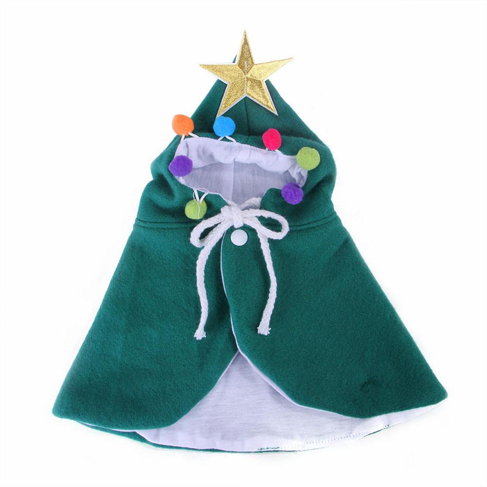 Christmas Pet Cat Dog Cloak Funny Dog Cat Costume Halloween Cat Clothing Cape Cute Christmas Clothes green_M