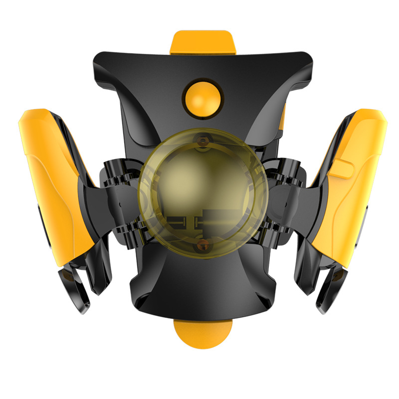 Phone Clip Handle Chicken Eating Artifact Per Second Game Metal Button for Jedi Survival yellow
