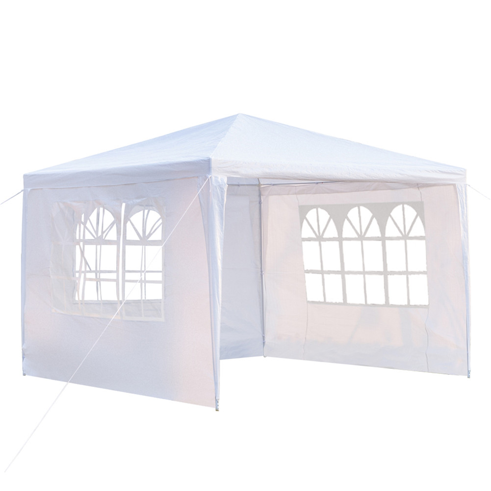 [US Direct] 3 X 3m 3 Sides Waterproof  Tent Portabled Tent For Outdoor Camping Beach Shelter White