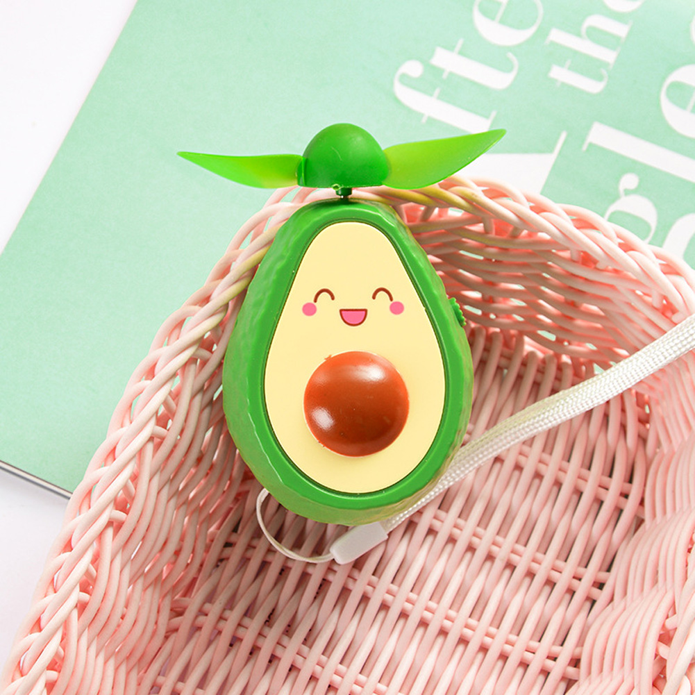Mini Handheld Fan Avocado Shape Portable USB Charging Fan for Office Home Travel smiley_9.5 * 6cm