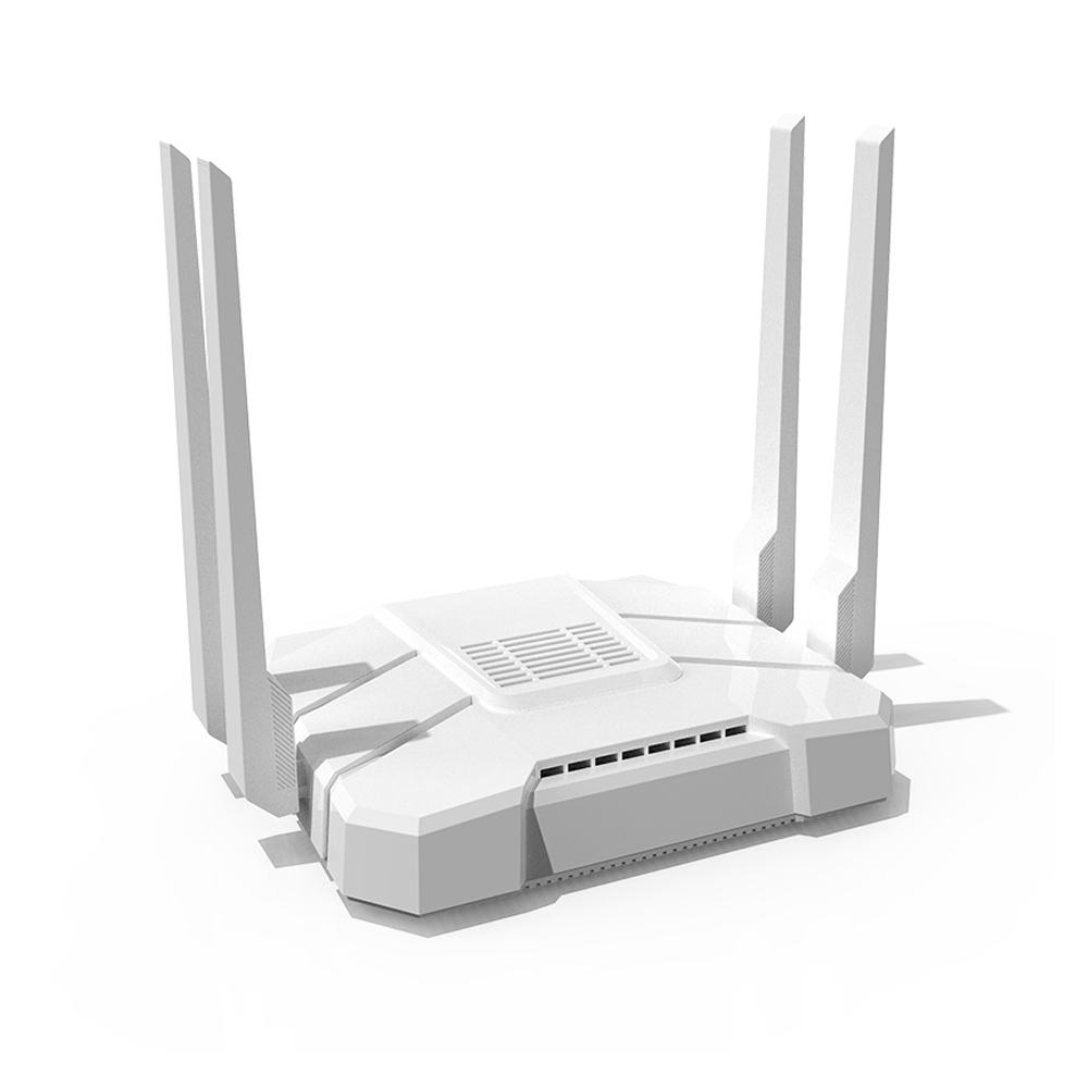 Home Cool Appearance Large Power Independent PA Amplifier Chip Wireless Router white