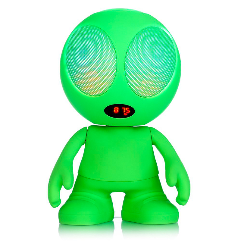 LED Light Alien Bluetooth Speaker (Green)