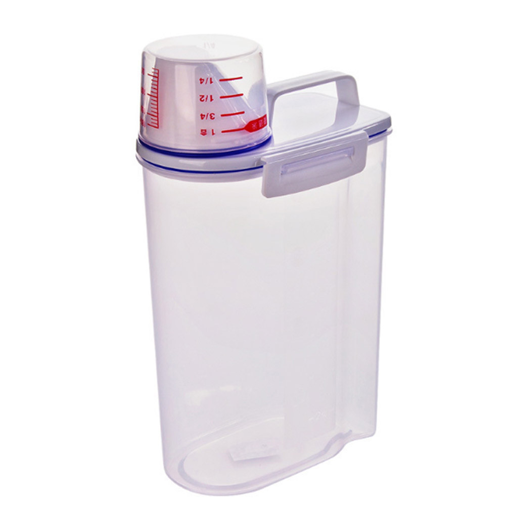 Storage Bucket Plastic Hand-held Sealed Moisture-proof and Insect-proof Kitchen Storage Supplies Transparent color