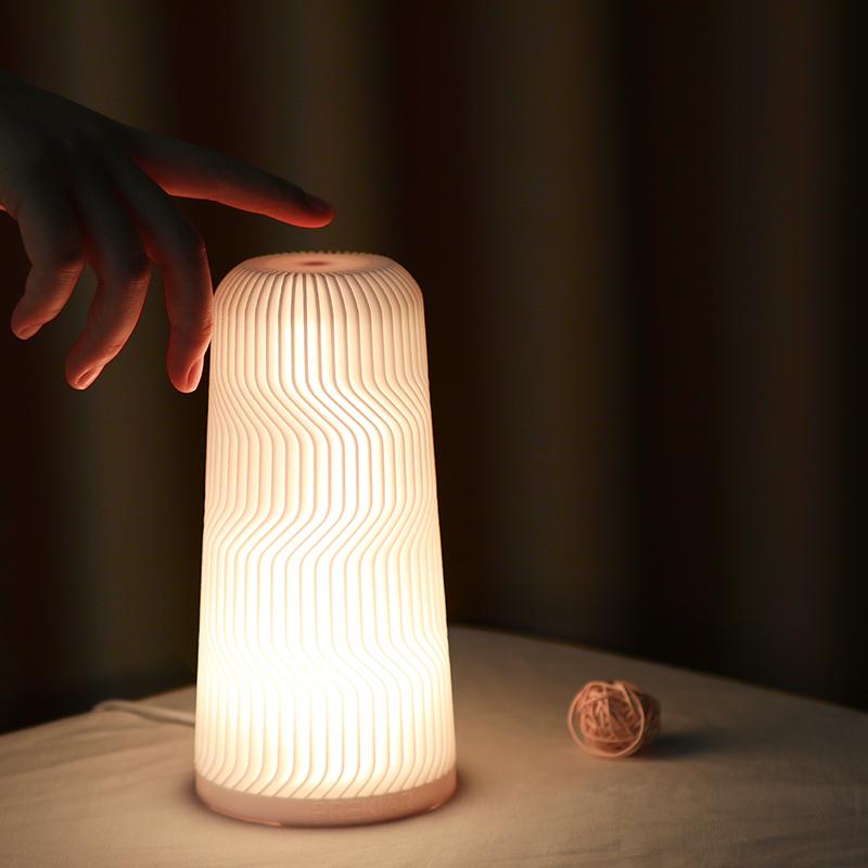 LED Night Light 3D Printing Remote Touch 16 Colors USB Night Light RGB