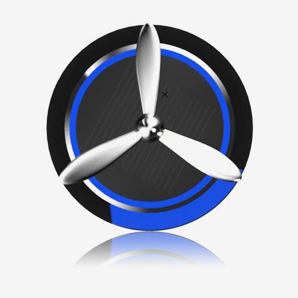 Solar Car Air Fresher Incense Aromatherapy Perfume Fragrance Ornament Blue + black
