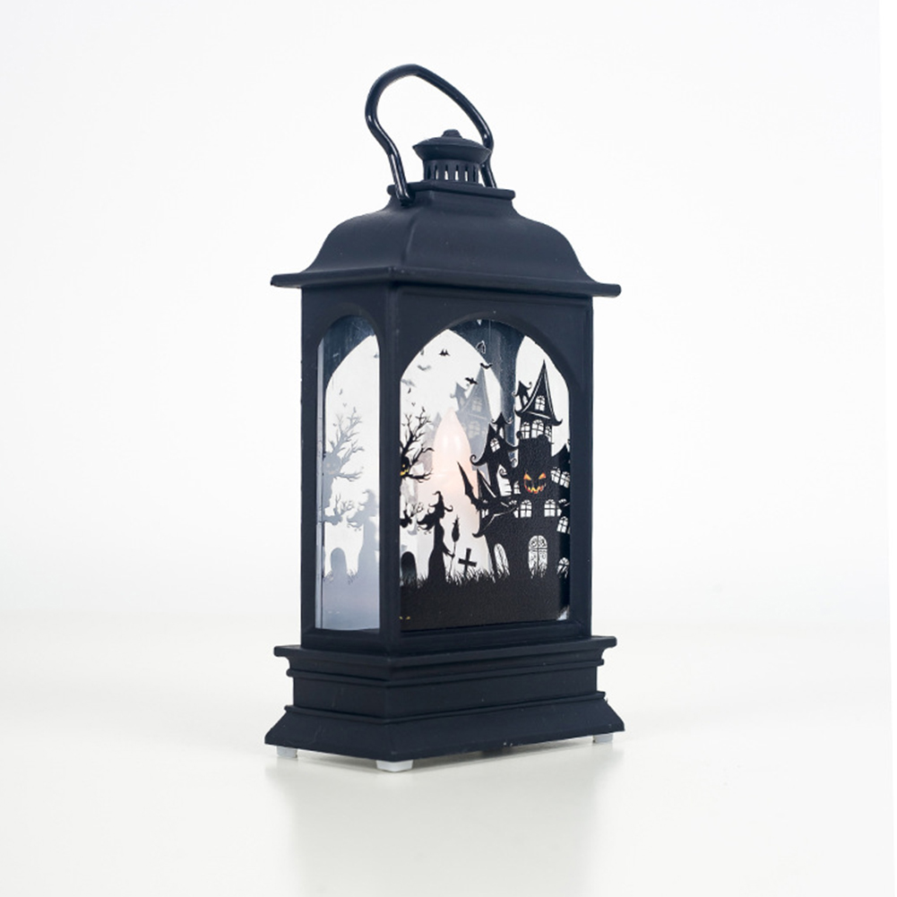 Electric Halloween Candle Transparent Lantern LED Bar Atmosphere Decoration Supplies Haunted house