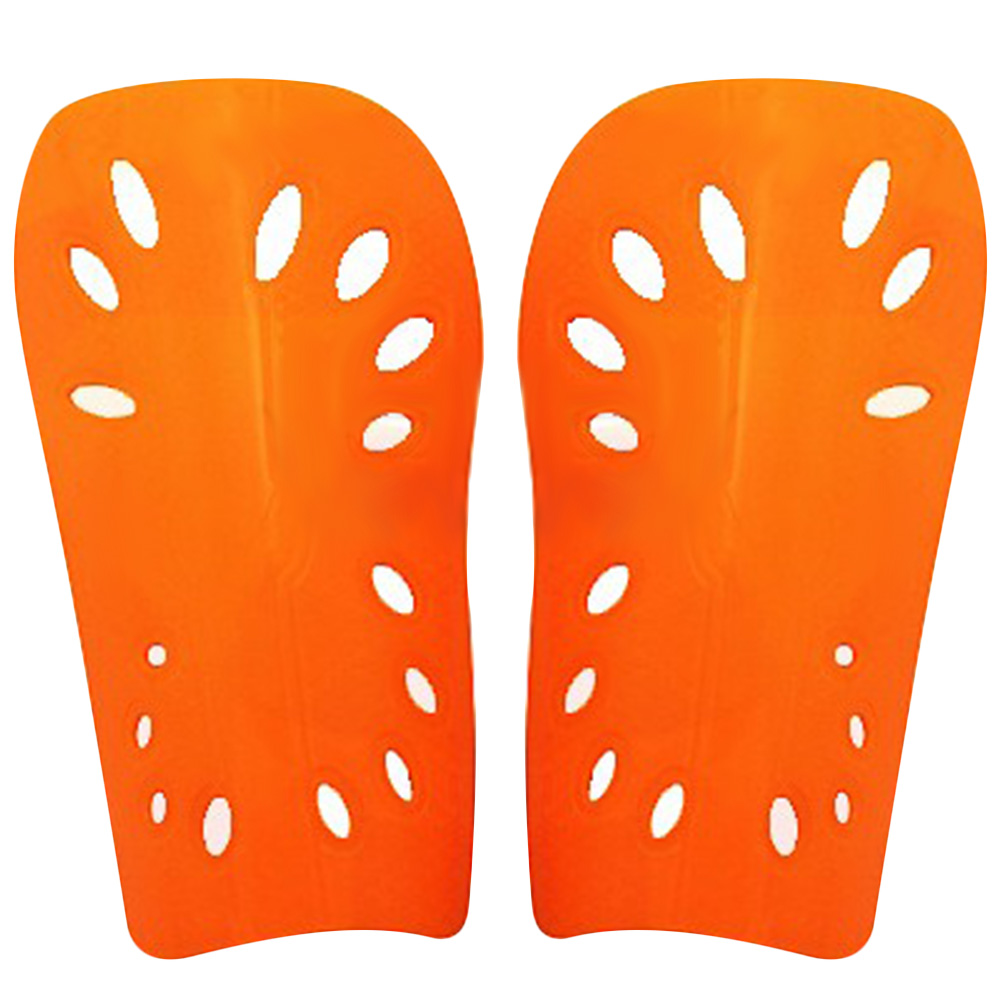 2pcs Soccer Shin Guard Pads Soft Football Cuish Plate Breathable Shinguard Leg Protector For Men Women Adult orange