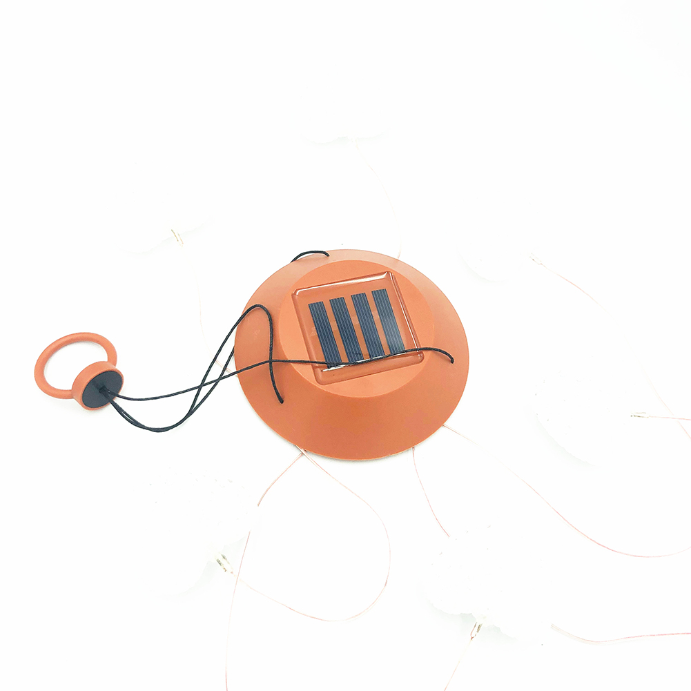 LED Solar Light Garden Hanging Spinner Lamp, Colour Changing Fairy Lights, Outdoor Decoration Lights Red shell sun moon