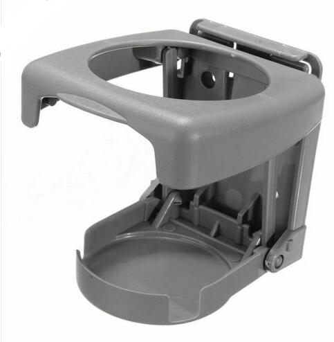 Foldable Car Cup Holder Portable ABS Beverage Holder Cup Bracket gray