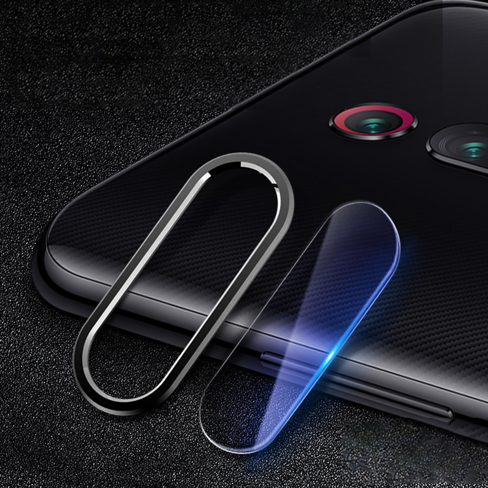 Solid Color Rear Camera Lens Protective Film+Ring for Xiaomi 9/9SE Redmi note 7pro K20 pro [elegant black]_Lens ring + lens film