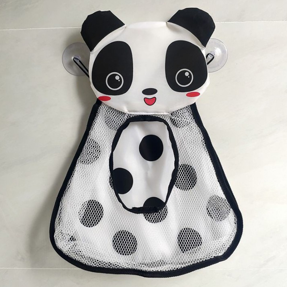 Cartoon Duck Frog Shape Storage  Bag With Suction Cup Bathroom Storage Hanging Bag Small panda