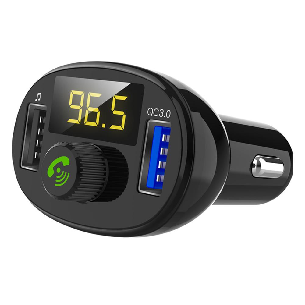 3.0 Wireless Bluetooth FM Transmitter Modulator Car Radio Adapter Car MP3 Player Dual USB Car Charger  BT23 (QC3.0) fast charge version