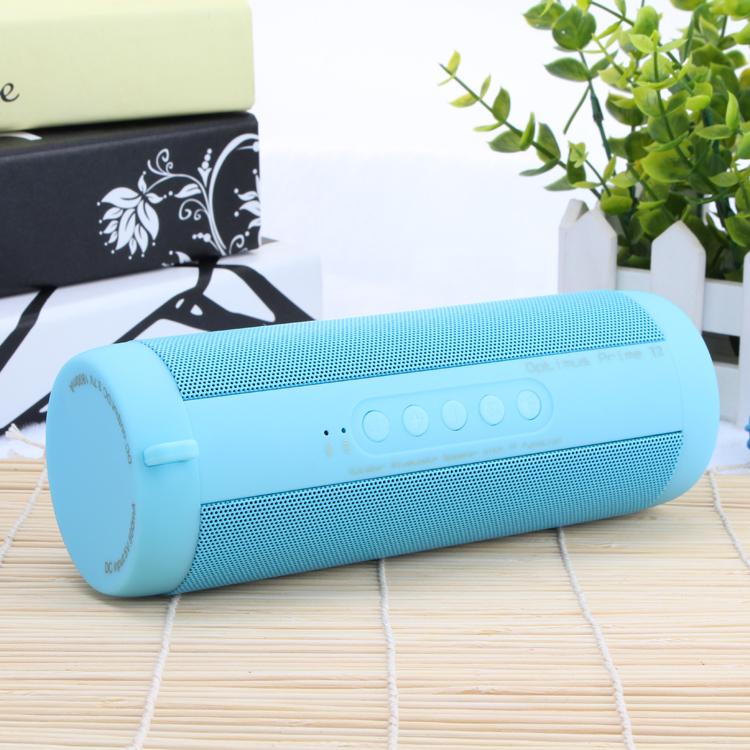Outdoor Portable Speaker Subwoofer Waterproof Wireless Bluetooth-compatible Speaker blue